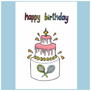 Carte de voeux A5_Happy Birthday