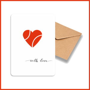 Carte A6 Collection Love_Balle Coeur_Avec enveloppe kraft