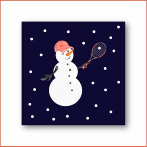 HAPPY TENNIS_Carte de Noël_Sacré joueur