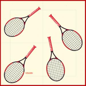 Happy Tennis_Serviette en papier dépliée