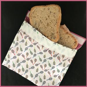 Happy Tennis – Pochette à snack rose – Sandwich