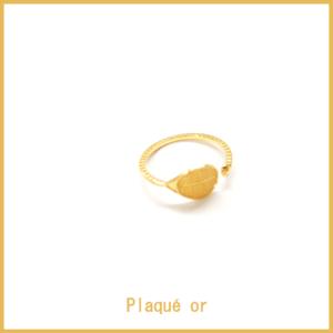 HAPPY TENNIS_Bague Raquette rencontre balle – Plaqué or