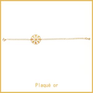 HAPPY TENNIS_Bracelet Tennis Flower Power – Plaqué Or