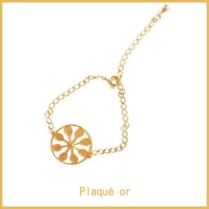 HAPPY TENNIS_Bracelet Tennis Flower Power – Plaqué Or_2